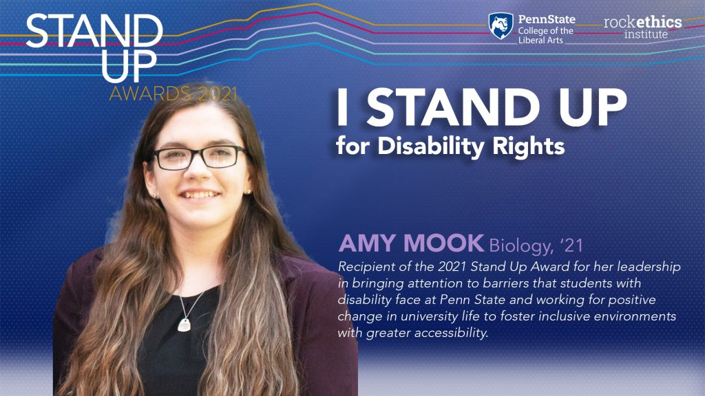 Image of Amy Mook Stand Up graphic