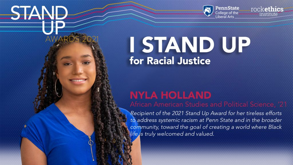 Image of Nyla Holland Stand Up graphic