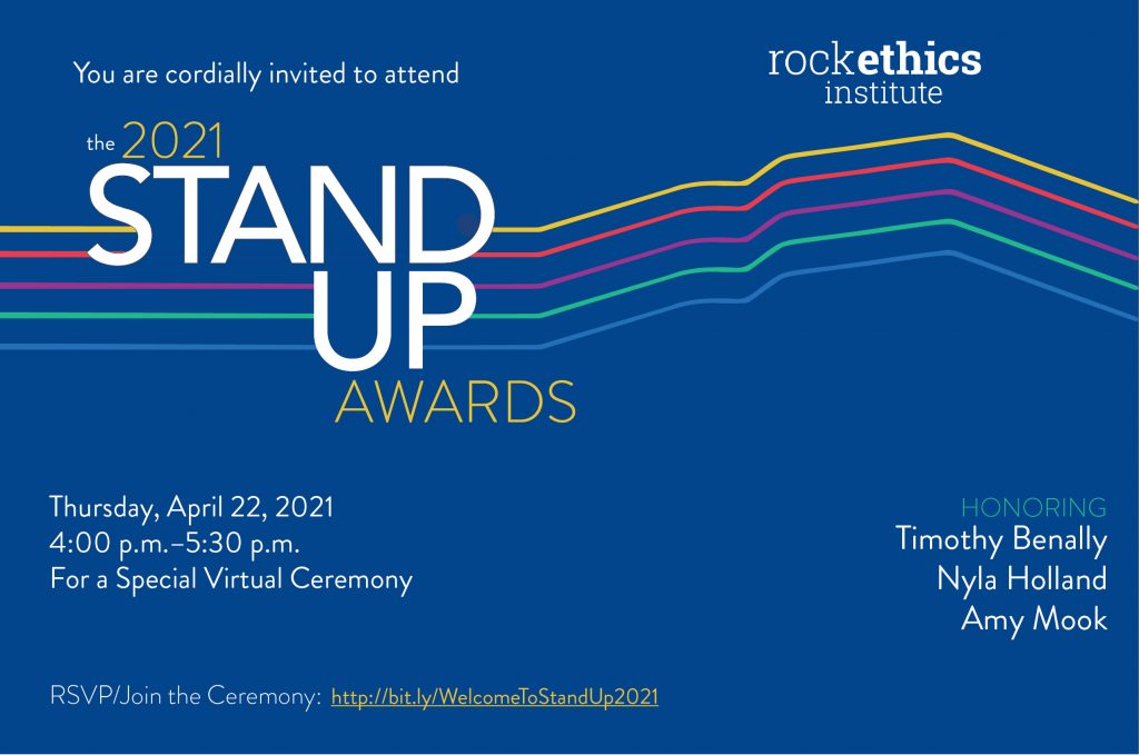 Image of 2021 Stand Up Awards invitation graphic