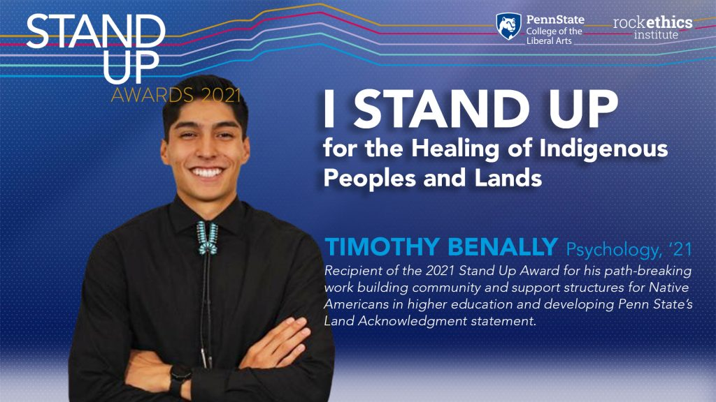 Image of Timothy Benally Stand Up graphic