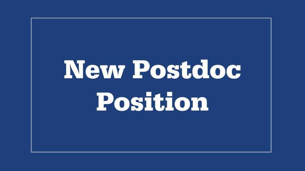 """Graphic that reads, """"New Postdoc Position"""""""