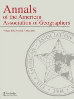 Image of the cover of Annals of the American Association of Geographers