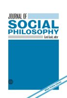 Image of the cover of the Journal of Social Philosophy